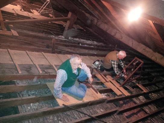 Fixers in the church attic