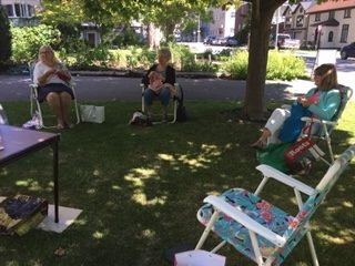 Picture of Knitters on the Church Lawn